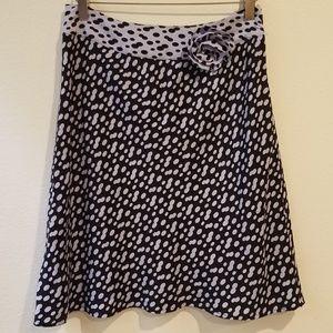 I.N.C Petite silk skirt, blue and black, NWT